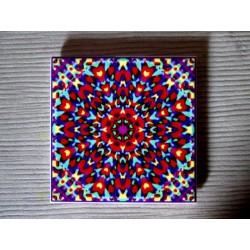 """Mandala """"iubire, armonie"""" pe suport ceramic"""