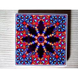 """Mandala """"vindecare emoţională, conştientizare"""" pe suport ceramic"""