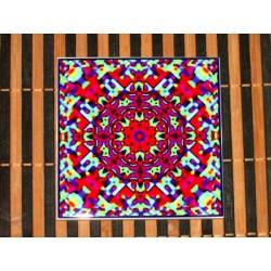 "Mandala ""armonie, evoluţie, conştientizare"" pe suport ceramic"
