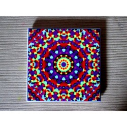 "Mandala ""elemente, apă, armonie"" pe suport ceramic"