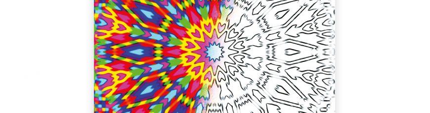 ÎN LUMEA DE ARMONIE A MANDALELOR LiLA…, Carte de colorat